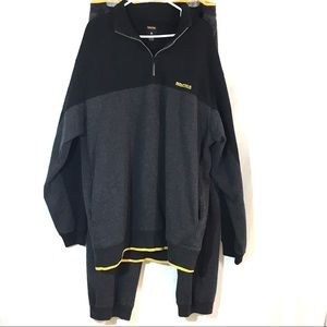 Vintage Nautica Track Suit Gray Black Fleece XLT